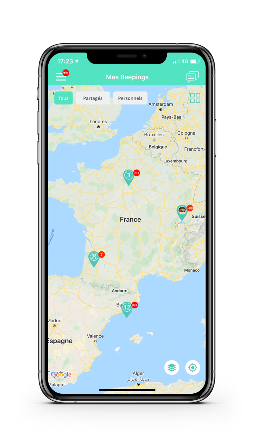 APP Beepings: geolocating your assets throughout Europe